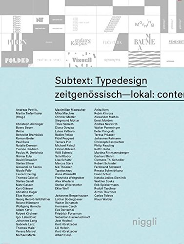 Subtext: Typedesign (English and German Edition)