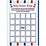Nautical Baby Shower Bingo Cards 20 Count