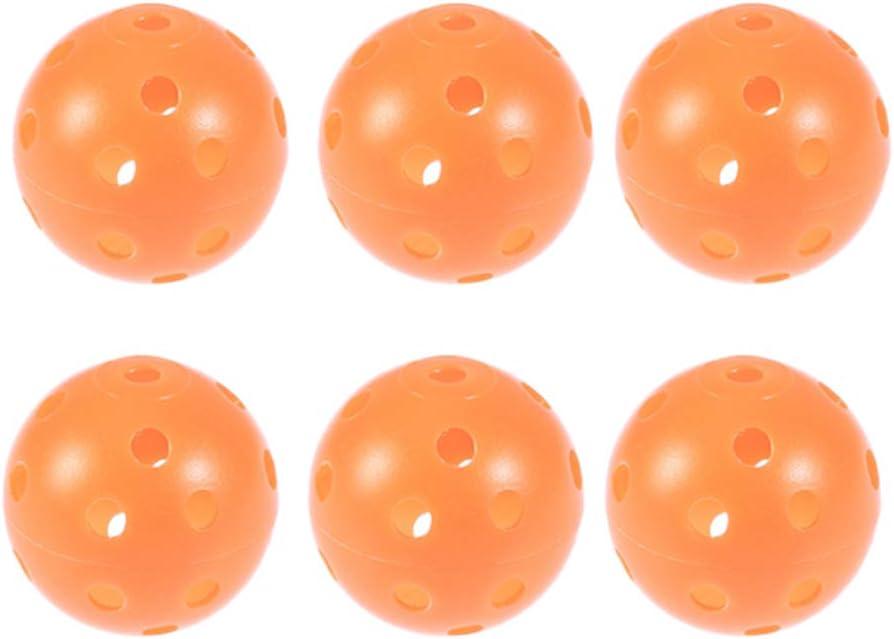 LIOOBO 12PCS Juegos de Bolas de Pickleball para prácticas de Golf para canchas en Interiores y Exteriores (Naranja)