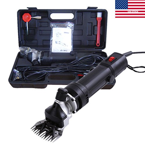 De.De. 650W Electric Pet Clippers Sheep Hair Fur Shearing Clipping Grooming Trimming Set Black (Ships from (650w Motor)