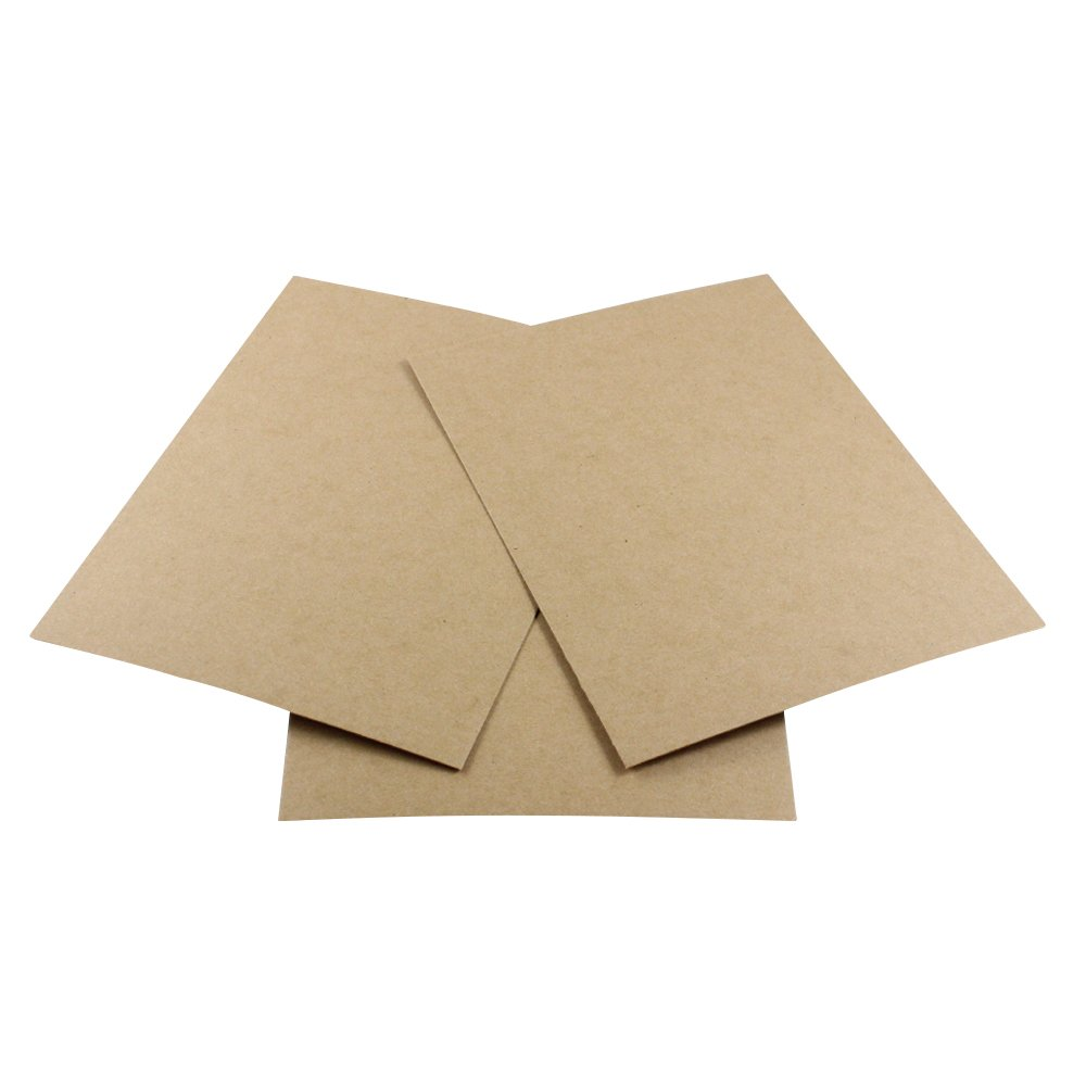 HGP 12'' x 12'', 5 pack, Chipboard Sheets for Arts and Crafts Scrapbooking Backing Mounting Board Picture Framing Shipping Cardboard by Harper Grove Productions (Image #1)