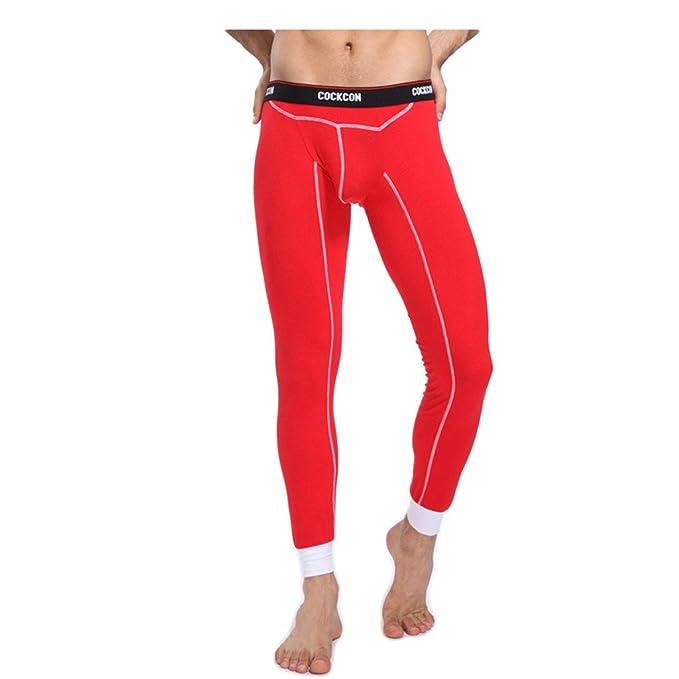 Linyuan - Pantalón de pijama - para hombre Rojo rosso
