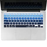 """Kuzy - BLUE Ombre Colors Keyboard Cover Silicone Skin for MacBook Pro 13"""" 15"""" 17"""" (with or w/out Retina Display) iMac and MacBook Air 13"""" - mix BLUE Ombre"""