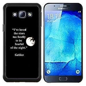 Galilei Cita Moon Stars Cita- Metal de aluminio y de plástico duro Caja del teléfono - Negro - Samsung Galaxy A8 / SM-A800