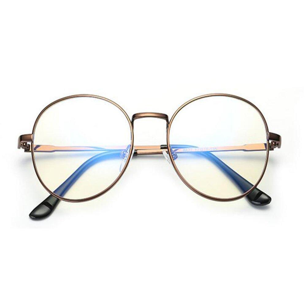 AiweijiaGafas para computadora para hombres y mujeres Filtro de luz azul Lentes transparentes Gafas anti-UV anti Fatiga ocular