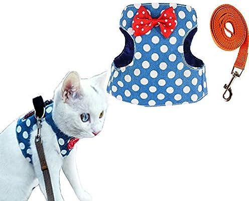 Briller Chaleco para Gato, arnés para Mascota, Chaleco de Tela ...