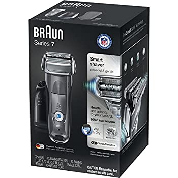 Braun Electric Shaver, Series 7 7865cc Men's Electric Razorelectric Foil Shaver, Wet & Dry, Travel Case With Clean & Charge System, Premium Grey Cordless Razor With Pop Up Trimmer 4