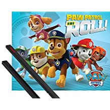 Poster + Hanger: Paw Patrol Mini Poster (20x16 inches) On A Roll And 1 Set Of Black 1art1® Poster Hangers