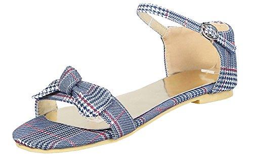 Sandales Ouvert Bleu Bout Plates Fille Outdoor Aisun Confortable Femme Iq6O07