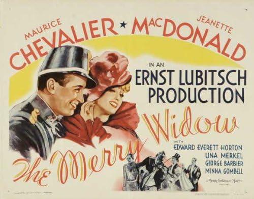 The merry widow Eric Von Stroheim vintage movie poster