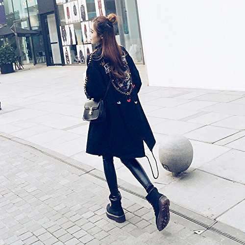In Women'S Black Jacket Long Breads Robel Services Liberal Xuanku The Udan7THUq