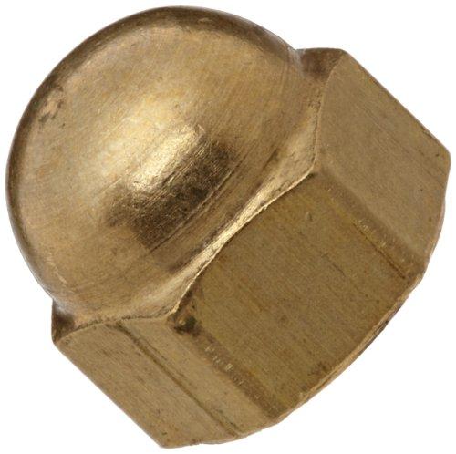 Brass Acorn Nut, Plain Finish, Right Hand Threads, Class 2B