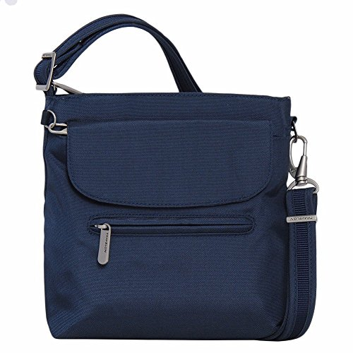Secure Bag Shoulder Travel - Travelon Anti-Theft Classic Mini Shoulder Bag (One Size, MIDNIGHT W/FLORAL LINING)