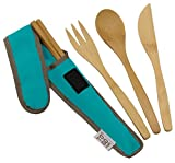 : Bamboo Travel Utensils - To-Go Ware Utensil Set with Carrying Case (Agave)
