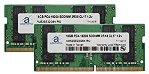 "Adamanta 32GB (2x16GB) Memory Upgrade for Apple iMac 2017 27"" Retina 5K Display DDR4 2400Mhz PC4-19200 SODIMM 2Rx8 CL17 1.2v Dual Rank RAM DRAM"