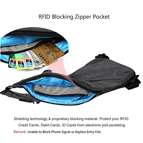 Sling Bag Shoulder Chest Cross Body Backpack Lightweight Casual Outdoor Sport Travel Hiking Multipurpose Anti Theft Crossbody Pack Daypack Bag Up to 7.9 Inch Tablet for Men Women
