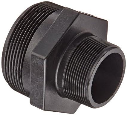 Schedule 80 Banjo RN200-125 Polypropylene Pipe Fitting 2 NPT Male x 1-1//4 Length Reducing Nipple