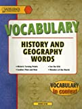 Vocabulary: History and Geography Words, Joanne Suter, 1562543946