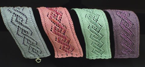 Beaded Lace Bookmark - Beaded Lace Cable Bracelets and Bookmarks (Heartstrings Fiberarts #A94)