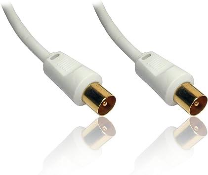 CDL Micro 5055313614081 - Cable coaxial para antena (10 meters), color blanco
