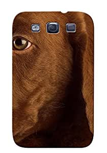 Premium OvZFgXn1698EvuPB Case With Scratch-resistant/ Chocolate Labrador Puppy Case Cover For Galaxy S3