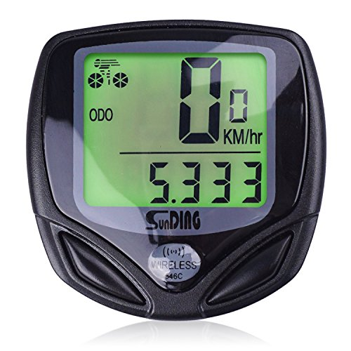 ENJOYPRO Wireles Bike Computer Bicycle Speedometer With Backlight Multi Function