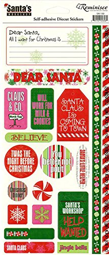 Reminisce Santas (Reminisce Stickers Santas Workshop)