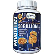 DNA Shift® Probiotics 50 Billion CFU + 100mg PREBIOTIC with 11 LIVE Bacteria Strain Supplement Best for Natural Digestive and Brain Health in Men & Women - Non Refrigerated Probiotic Supplements