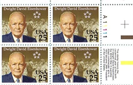 MINT CONDITION SET OF 4 U.S PRESIDENT DWIGHT D EISENHOWER POSTAGE STAMPS