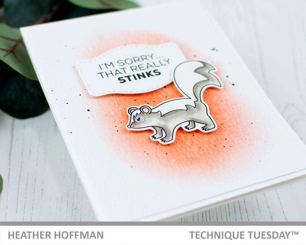 Skunk Squirrel Animal Stink Sorry Gift Stamps Metal Cutting Dies Scrapbooking