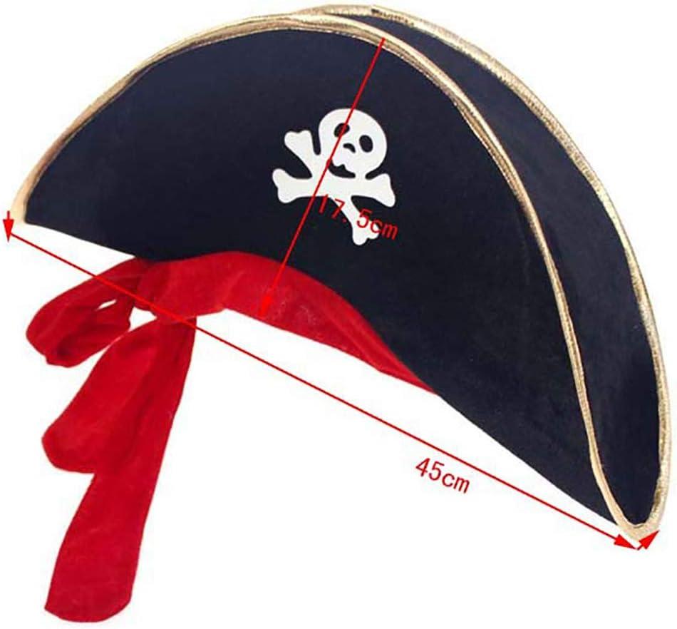 1pcs el Pirata Capitán Sombrero Mascarada apoyos de la ...