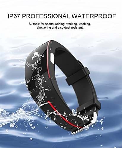 BOND P3 PPG+ECG Smartwatch Blood Pressure Heart Rate Monitor Fitness Watches Cicret Bracelet Smart Wristband For iOS Android Healthy Gift (BLACK)