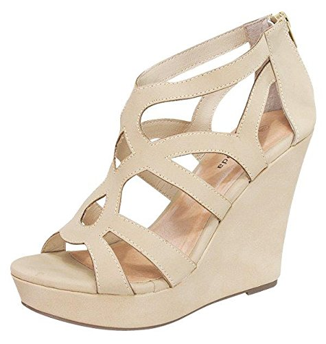 9d597b5dee3b Top Moda Womens Ella-15 Fashion Wedge Sandals