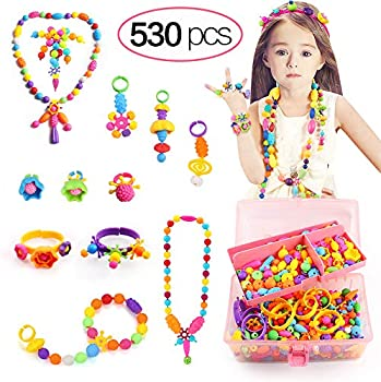 Tomons Arts and Crafts 530-Pieces Pop Beads