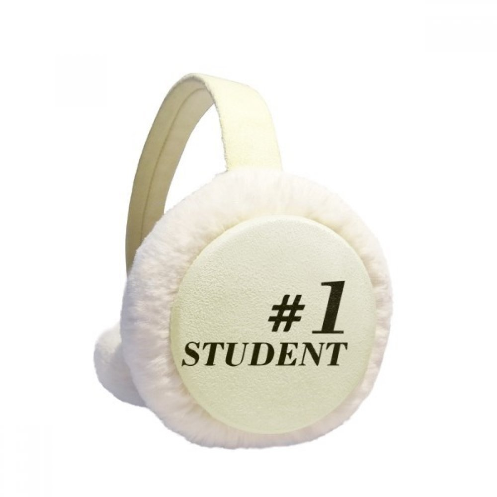 Number.1 Student Teacher Quote Winter Earmuffs Ear Warmers Faux Fur Foldable Plush Outdoor Gift