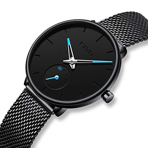 CIVO Women Watches Ladies Stainless Steel Watch Waterproof Luxury Fashion Elegant Watches for Woman Girls Business Dress Analogue Quartz Wrist Watch