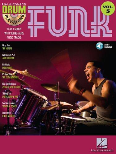 Funk (Songbook): Drum Play-Along Volume 5 (Hal Leonard Drum Play-Along) (Along Drum Play Songbook)