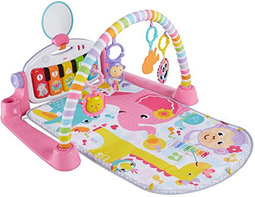51SUByco3SL - Fisher-Price Deluxe Kick 'n Play Piano Gym, Pink