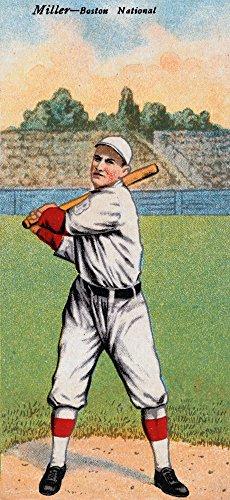 Boston Doves - Roy Miller - Baseball Card # 2 (16x24 Giclee Gallery Print, Wall Decor Travel Poster)