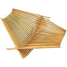 Chopstick Art Recycled Bamboo Chopstick Folding Basket, Large Tea Stained