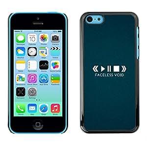 Playing The Faceless Void - Metal de aluminio y de plástico duro Caja del teléfono - Negro - iPhone 5C