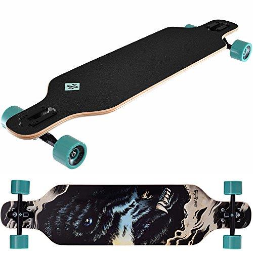 (Street Surfing Streetsurfing 500252 Freeride Long Board-Turquoise, 39-Inch)