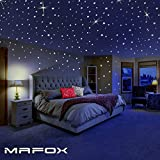 MAFOX Glow in the Dark Stars for Ceiling or Wall Stickers - Realistic 3D Wall Stickers Room Décor - Galaxy Glow Stars Set Solar System Decals for Kids Bedroom Decoration - Beautiful Birthday Gift