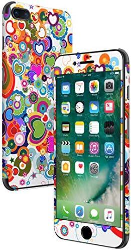 igsticker iPhone SE 2020 iPhone8 iPhone7 専用 スキンシール 全面スキンシール フル 背面 側面 正面 液晶 ステッカー 保護シール 004640 ラブリー フラワー ハート カラフル