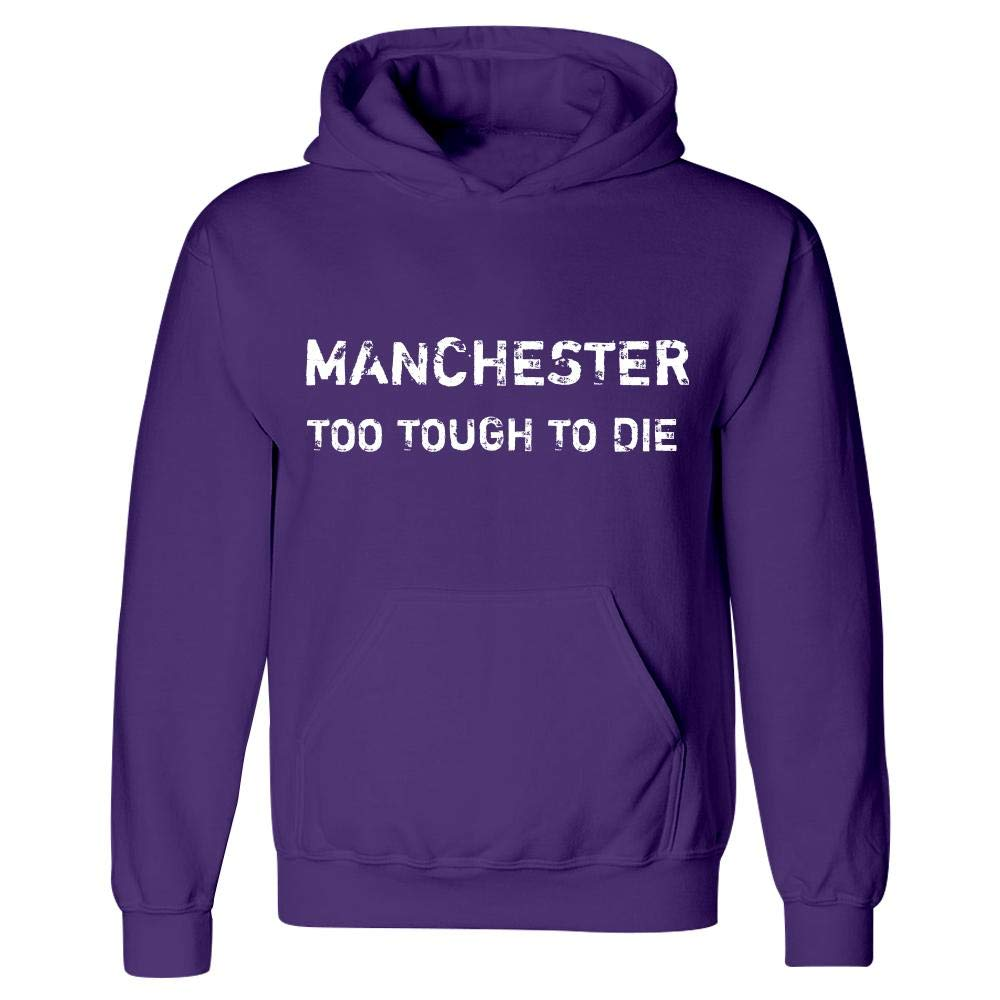 Hoodie Purple MESS Manchester Too Tough to Die