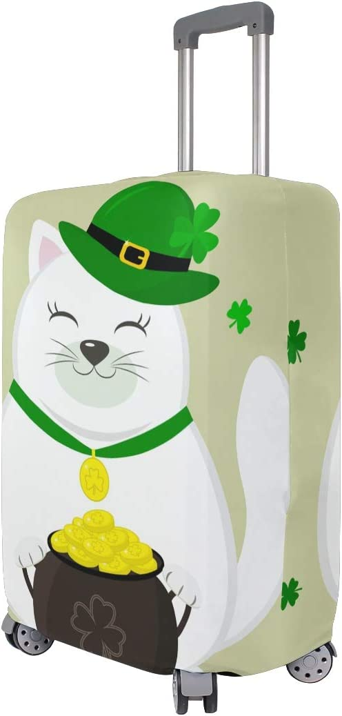 18//20//24//28//32 Inch Spandex Travel Luggage Cover -St XL Patricks Day Cartoon Style Fashion Creative Design Anti-Scratch Stretchy Travel Suitcase Protector Baggage Covers