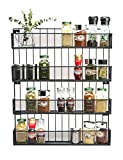 JackCubeDesign Wall Mount Spice Rack 4 tier Kitchen Countertop Worktop Display Organizer Spice Bottles Holder Stand Shelves(17.6 x 2.8 x 20.8 inches) – :MK418A