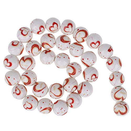 (10mm Traditional Chinese Style Ceramic Porcelain Charm Loose Beads for DIY Handicraft Jewelry Making(5))