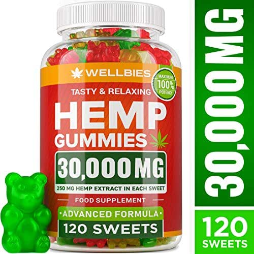 Premium Hemp Gummies – Natural Hemp - Made in USA – King Size 30000MG – Boost Memory Function, Improved Sleep, Support Good Mood – Fast Results - Rich in Vitamins B, E, Omega 3, 6, 9