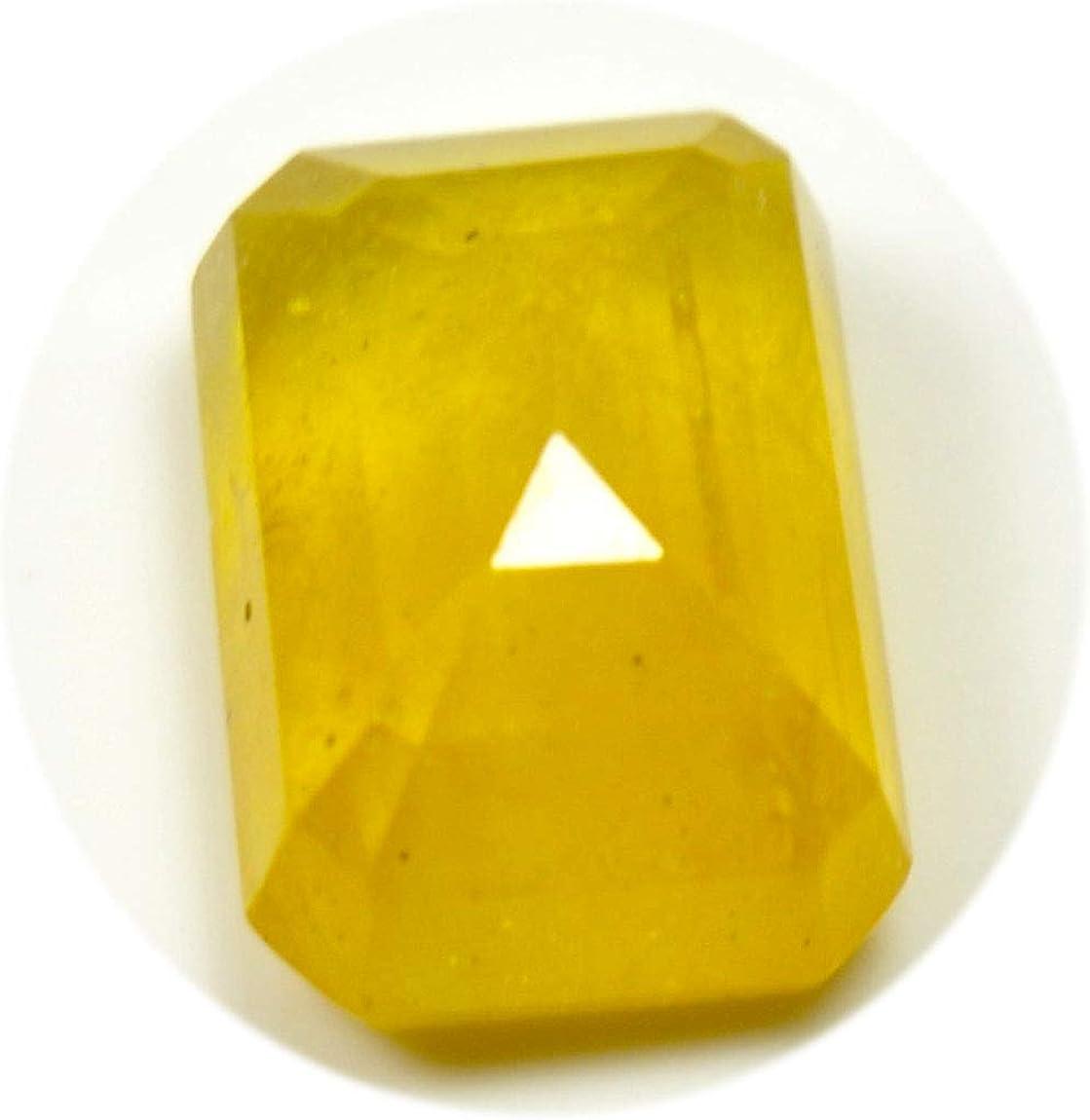 Jewelryonclick Pierres pr/écieuses en Vrac Saphir Jaune v/éritable 6 carats de Septembre octogone coup/és en Gros